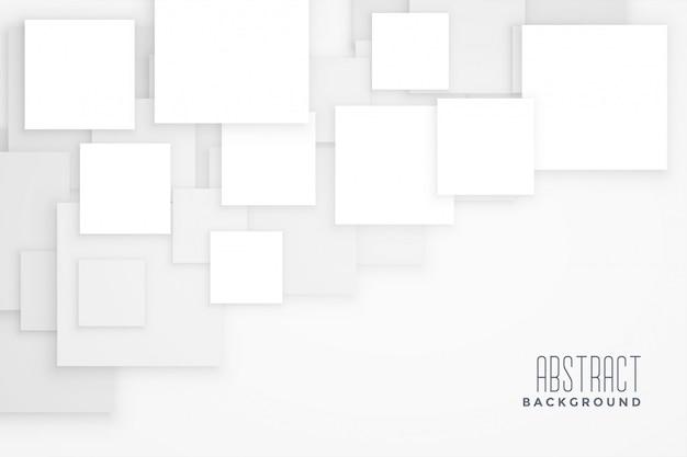 Abstract white square concept design