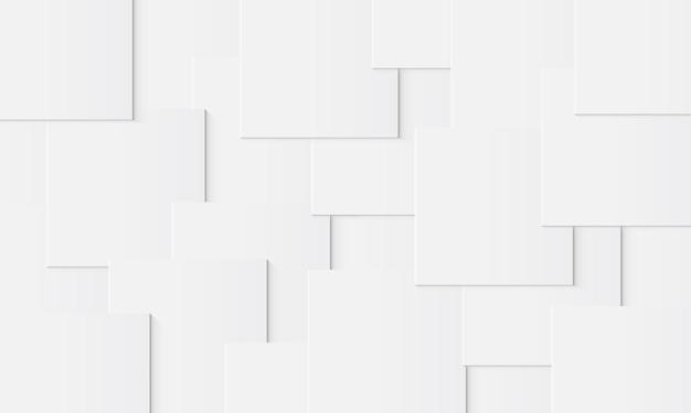 影と重なる抽象的な白い正方形ベクトル図