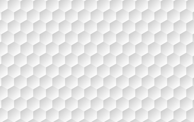 Abstract white surface hexagon