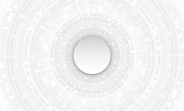Абстрактные белые технологии кибер цепи круг футуристический фон
