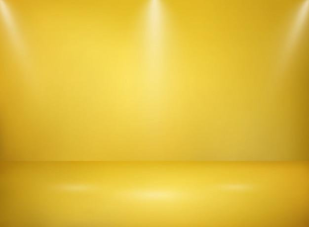 Abstract of wide golden studio metal texture background