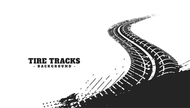 Abstract winding tire track mark background