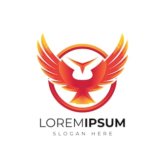 Abstract wing logo design