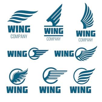 抽象的な羽のベクトルロゴは、配信のために設定