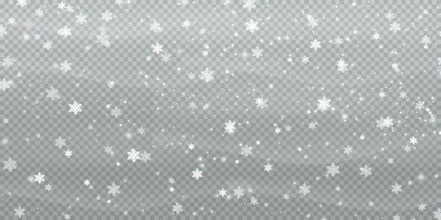 雪片から抽象的な冬の背景