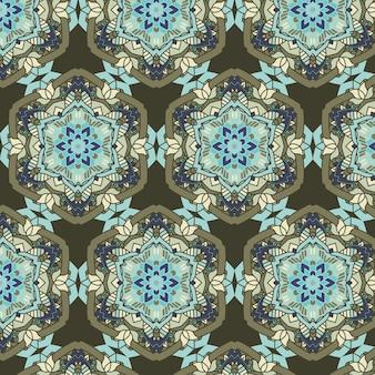 装飾的な詳細なエスニックスタイルのパターンデザインで抽象
