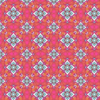 エレガントでシームレスなタイルパターンデザインの抽象