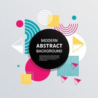Abstract with circle badge