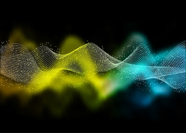 Abstract with a flowing waves design