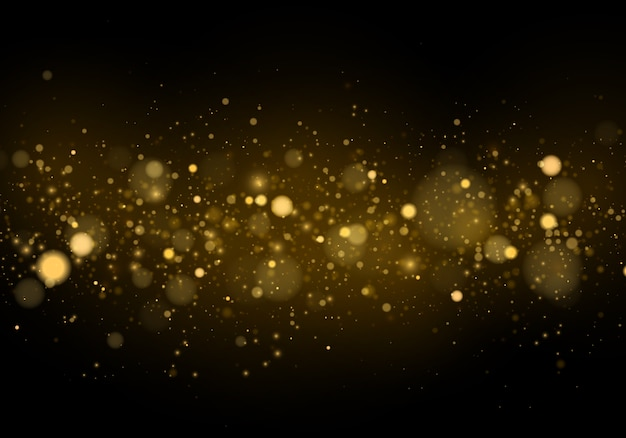 Abstract with gold bokeh effect.