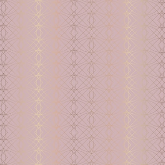 Abstract with rose gold pattern design