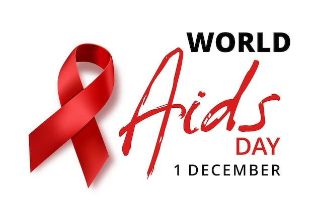 추상 세계 에이즈의 날 인식, 흰색 바탕에 빨간 리본