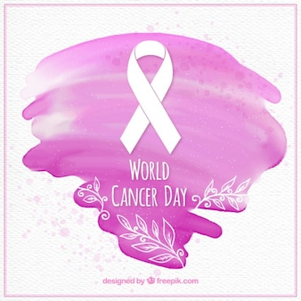 Abstract world cancer day stain background