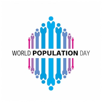 Abstract world population day design