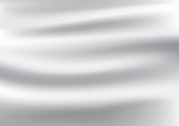흰색 새틴과 실크 직물 배경 및 질감의 추상 주름