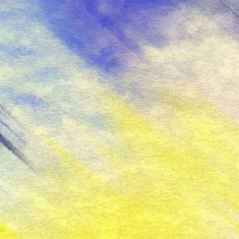 추상 노란색과 파란색 수채화 텍스처
