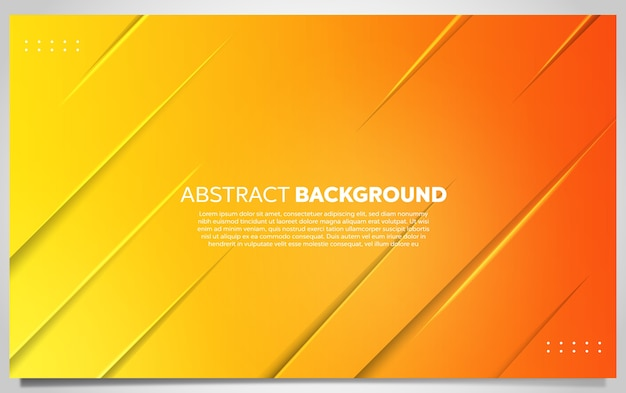 抽象的な黄色とオレンジ色のグラデーションの背景