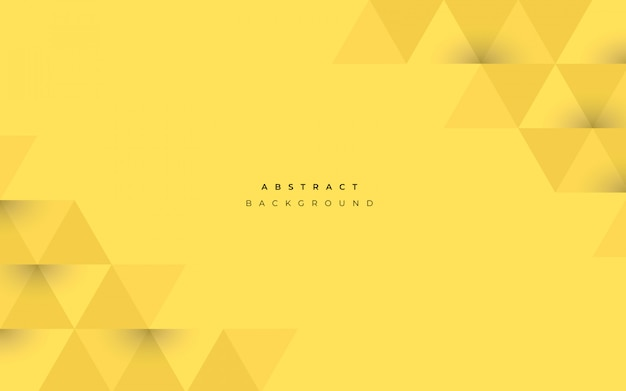 Abstract yellow background with geometrical shapes