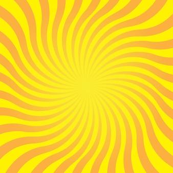 太陽光線と抽象的な黄色の背景。デザインの夏のベクトル図