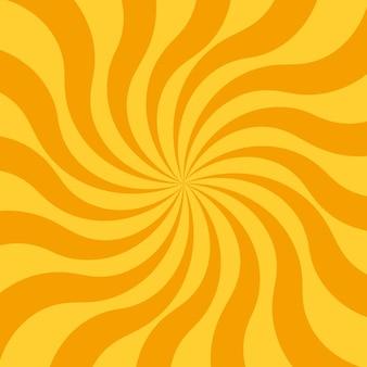 太陽光線と抽象的な黄色の背景