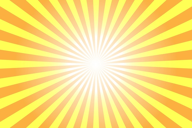 Abstract yellow background with sun rays illustration