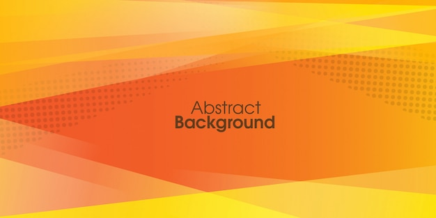 Abstract yellow banner background