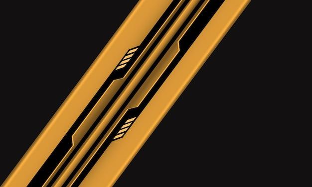灰色の現代の未来的な技術の背景に抽象的な黄黒回路サイバー幾何学的ラインスラッシュ