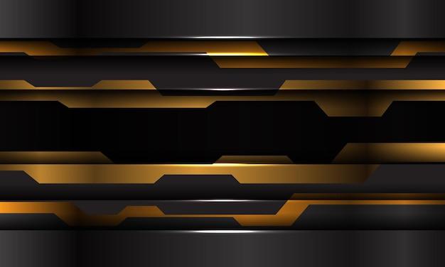 추상 노란색 검은 금속 사이버 미래 슬래시 배너 디자인 현대 기술 배경