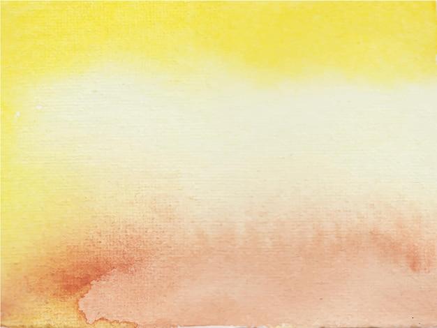 抽象的な黄褐色の水彩画の背景。手描きです。