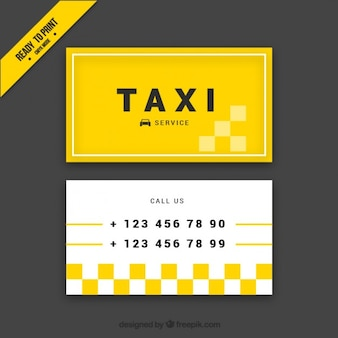 Abstract yellow card of taxi driver