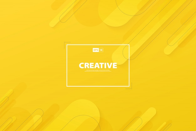 Abstract yellow color of background modern decoration design.