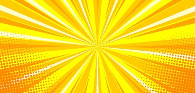 Абстрактный желтый комикс зум фон