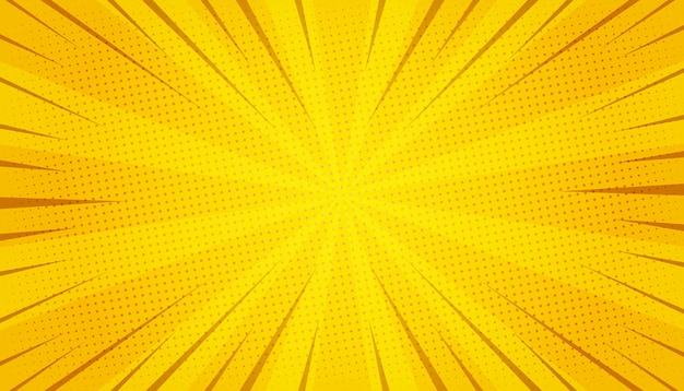 Abstract yellow comic zoom