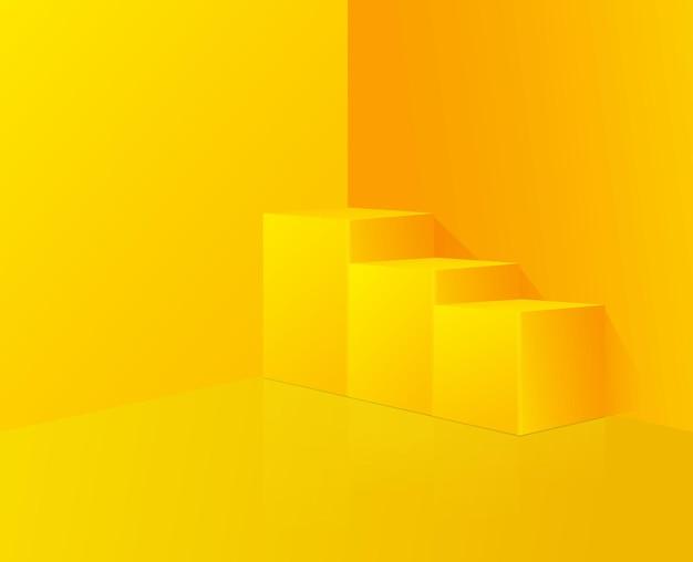 연단 디자인 추상 노란색 구성