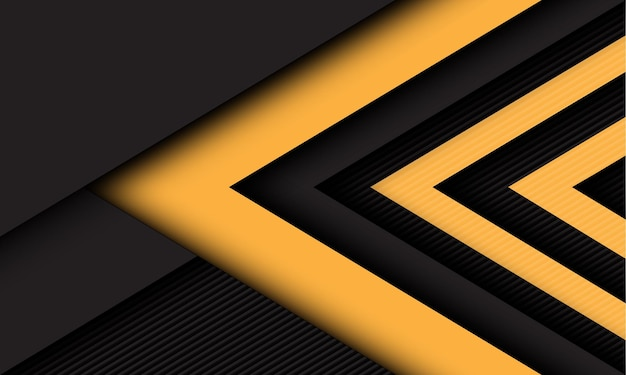 Abstract yellow dark grey arrow direction overlap on lines texture style futuristic technology background