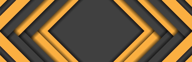 Abstract yellow and dark grey stripes metallic background