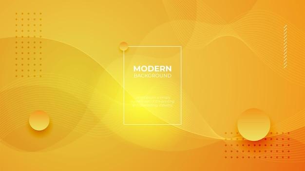 Абстрактный желтый жидкой формы современный фон