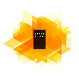 Абстрактный желтый геометрический фон дизайн