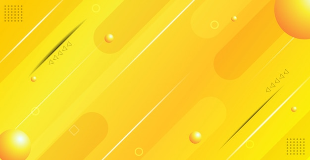 Abstract yellow gradient geometric background