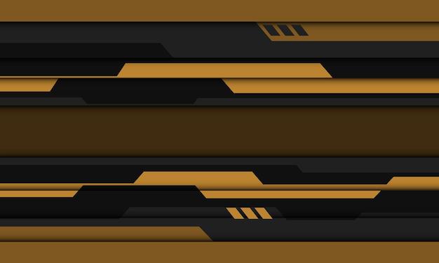 抽象的な黄色灰色黒サイバー幾何学的デザイン現代の未来的な技術の背景