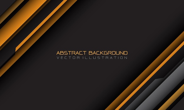Abstract yellow grey cyber geometric slash with blank space and text design modern futuristic background