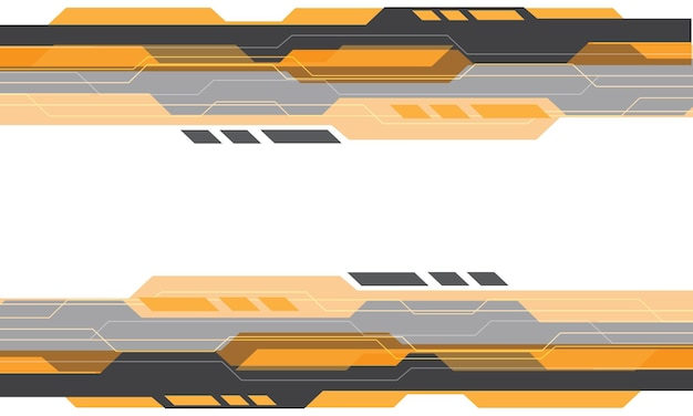 Abstract yellow grey cyber geometric technology on white design modern futuristic background