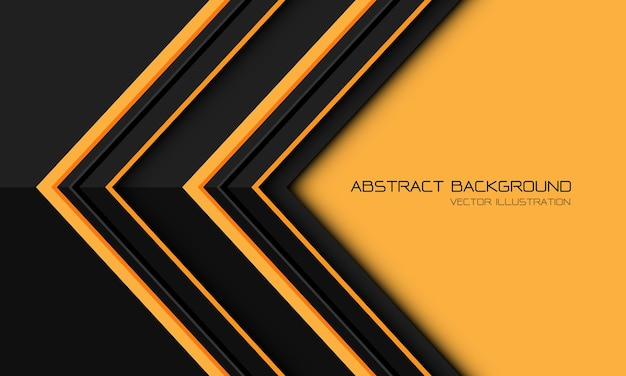 Abstract yellow grey metallic arrow direction geometric with blank space design modern futuristic background