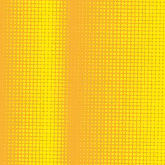 抽象的な黄色のハーフトーンの背景 無料ベクター