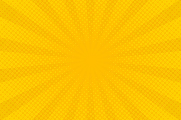 Abstract yellow halftone comic zoom background