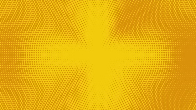 Abstract yellow halftone wide elegant background