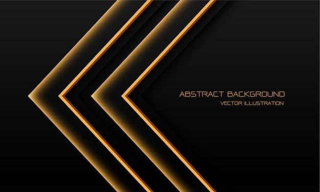 Абстрактный желтый свет неоновая стрелка направление иллюстрации