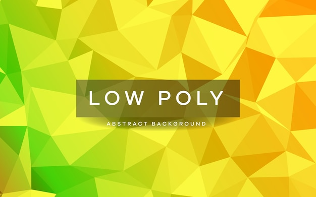 Abstract yellow low poly background texture
