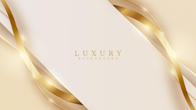 Abstract yellow luxury background with golden line