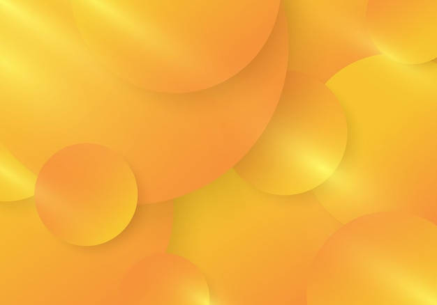 Abstract yellow and orange gradient color circles pattern with lighting effect background. vector illustration